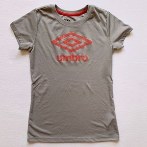 Boys Grey Umbro Dri-Fit T-shirt